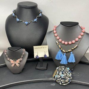 Pink & Blue Moon Glow Shimmer Jewelry